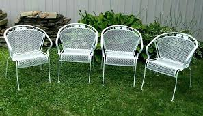 vintage iron patio furniture. Fine Iron Antique Wrought Iron Patio Furniture 4 Vintage Metal Barrel Back Chairs  Dogwood Floral Outdoor Table   Intended Vintage Iron Patio Furniture
