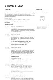 Financial Representative Resume samples