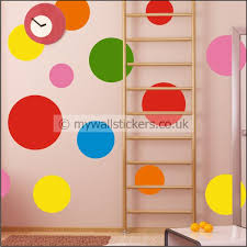 vinyl wall art  on vinyl wall art uk with assorted multi dots wall stickers
