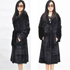 <b>Autumn faux mink</b> leather jacket womens long trench <b>coats</b> winter ...