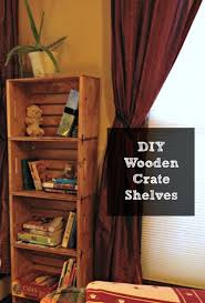 diy unfinished wooden crate shelves tutorial