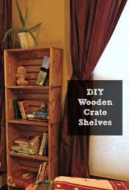 diy unfinished wooden crate shelves tutorial