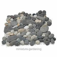 natural river sand stones rocks fairy garden miniatures gnomes moss terrarium op collectibles rocks fossils minerals