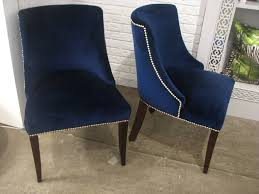 nailhead dining chairs dining room. Outstanding Chairs Marvellous Navy Velvet Dining In Blue Chair Attractive Nailhead Room