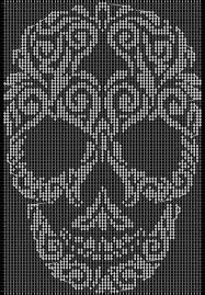 crochet graph paper by toribug skulls alpha tapestry crochet graph paper pattern added