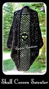 Skull Crochet Pattern Amazing 48 Name 'Crocheting PATTERN For A Skull Cocoon Sweater Crochet