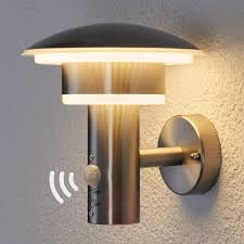 pir outdoor wall light lillie with leds