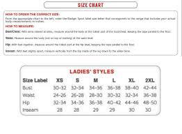 Badger Sportswear Size Chart Usapa Partner Shirt Womens Discontinued