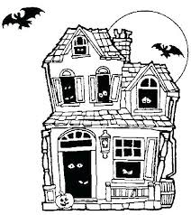 Haunted Houses Coloring Pages Printable House Free Halloween Sheets