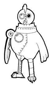 Chicken Coloring Pages Chicken Coloring Pages Robot Page Free