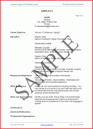 Unique An Example Of A Curriculum Vitae Factor 15 Limited
