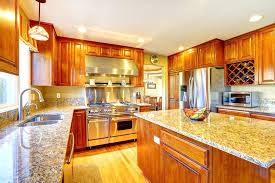 quartz kitchen with oak cabinets white that go cherry countertops honey pictures