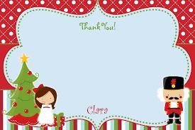Nutcracker Thank You Note Christmas Thank You Note You