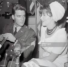 elvis tina louise pictures getty images tina louise actress and future star of gilligan s island interviews elvis presley upon his