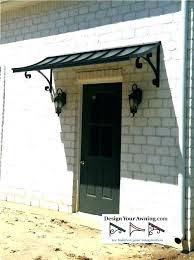 diy front door installation exterior door exterior door canopy the concave metal awning metal entry door