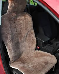 universal fitting genuine sheepskin car seat covers black