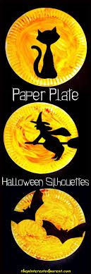 17 best ideas about paper halloween paper puppets halloween paper plate silhouettes halloween crafts for kids