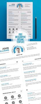 Free Clean And Infographic Resume Psd Template Print Ready Designs