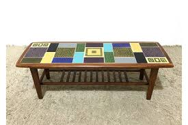60s vintage mid century retro malkin johnson ceramic tiles coffee table photo