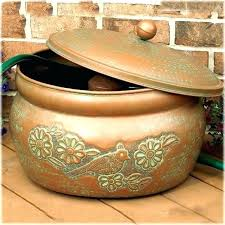 garden hose pot with lid. Garden Hose Pot With Lid Amazing Lattice Steel Holder And Set Intended For 4