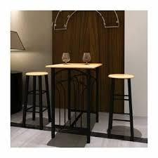 Lot Avec Une Table Haute De Bar Et 2 Tabourets Phoenix Maison