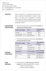 Accountant Cv Format Famous Captures Resume Sample Chartered Company