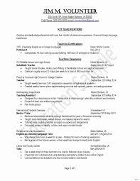 Volunteer Work Resume Example Volunteer Resume Template Unique