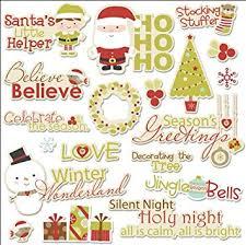 Seasons Greetings Words Santas Little Helper Die Cuts Imaginisce