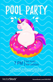Party Invitation Background Image Pool Party Invitation Template Background For Vector Image