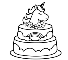 Many categories of free holiday coloring sheets and coloring book pictures for kids to choose from. Free Printable Unicorn Cake Coloring Pages Novocom Top