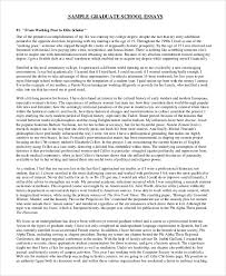 Sample Personal Statement For Graduate School 8 Examples