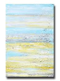 original art abstract painting yellow grey turquoise blue textured coastal wall decor 36x24  on coastal life canvas wall art with shop abstract paintings original modern canvas wall art