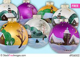Hand Decorated Christmas Balls Christmas Balls Hand Painted Free Stock Images Photos 54