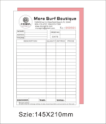 Copy Of An Invoice Low Cost A24 NCR Pads Printing 6