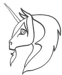Semplice Testa Di Unicorno Da Stampare E Da Colorare Gratis
