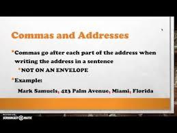 Commas In Addresses