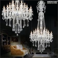 large crystal chandelier lighting luxury light fashion modern chandeliers living room bedroom for