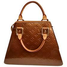 louis vuitton handbag forsyth monogram vernis bronze leather tote travelers ruby lane