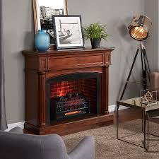 mr heater 23 in w 5100 btu black electric fireplace logs heater included