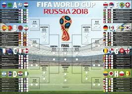 Russia 2018 Fifa World Cup Fixtures Printable Wall Chart Stuff Co Nz