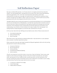 how to write a good personal reflective essay reflection essay example reflective essay