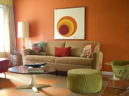 Orange And Brown Living Room Drawing Room Wall Orange Colours Combinations Living Room Color