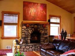 art over fireplace mantel 14