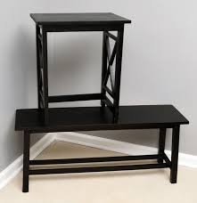 contemporary accent table and bench  ebth