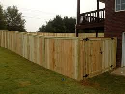 6 ft capped privacy fence