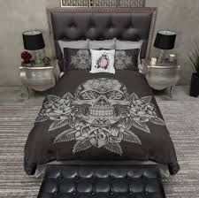 33 peachy design skull bed sets queen pleasing sugar bedding skulls duvet comforter cover set distinguished roses on slate watercolor sketch ink for rags