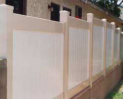 solid privacy stepped wall extension