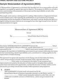 Download Memorandum Of Agreement Template For Free