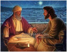 Image result for pictures of nicodemus and Jesus