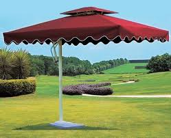 plain garden umbrella size 7ft x 7ft